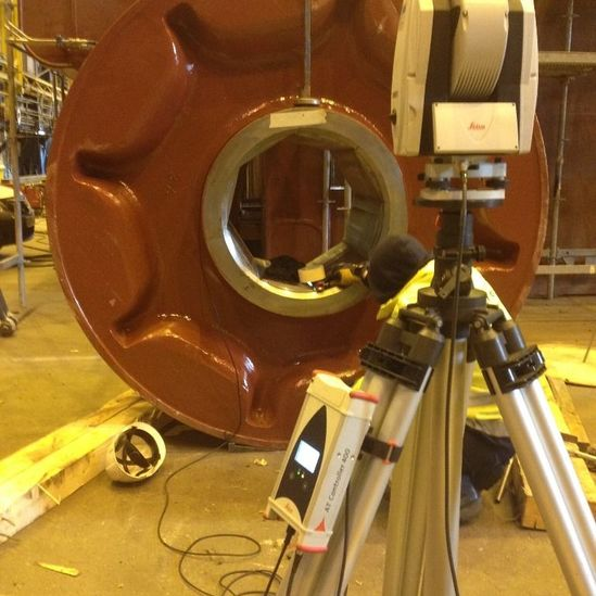 Anchor chain wheel geometry inspection 2014